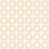 Vector geometric seamless pattern. Yellow background with crosses, circles stock illustration