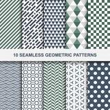 10 Vector geometric seamless patterns Stock Photo
