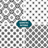 Vector geometric seamless patterns Stock Image
