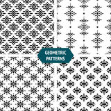 Vector geometric seamless patterns Stock Photography