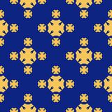 Vector geometric seamless texture pattern. Luxury yellow and blue colors. royalty free illustration
