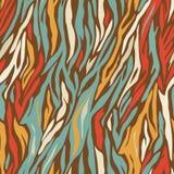 Vector geometric seamless zebra pattern design Stock Image