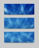 Vector geometric set banner . brochure template Royalty Free Stock Images