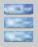 Vector geometric set banner . brochure template Royalty Free Stock Photos