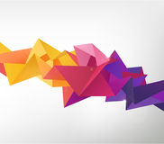 Vector geometric shape. Abstract colorful futuristic background Royalty Free Stock Images