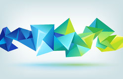 Vector geometric shape, abstract futuristic Royalty Free Stock Photo