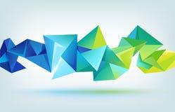 Vector geometric shape, abstract futuristic vector illustration