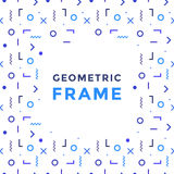 Vector geometric shapes frame. Rectangles, lines and circles vector abstract element for design. Vector geometric frame. Vector abstract symbols for design Royalty Free Stock Photo