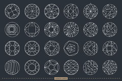 Vector geometric shapes. Set of hipster vector geometric shapes. Circular abstract. Shapes made using line, triangles, circles, and other polygons. You can use Royalty Free Stock Image