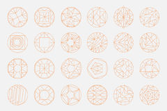 Vector geometric shapes. Set of hipster vector geometric shapes. Circular abstract. Shapes made using line, triangles, circles, and other polygons. You can use Stock Photography