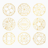 Vector geometric shapes. Set of hipster vector geometric shapes. Circular abstract. Shapes made using line, triangles, circles, and other polygons. You can use Stock Image