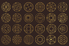 Vector geometric shapes. Set of hipster vector geometric shapes. Circular abstract. Shapes made using line, triangles, circles, and other polygons. You can use Stock Photos