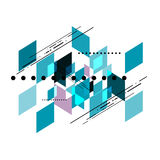 Vector geometric shear template abstract background. Design Royalty Free Stock Photo