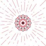 Vector Geometric Sun Emblem Stock Photos