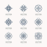 Vector geometric symbols Stock Photo