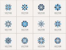 Vector geometric symbols Stock Images
