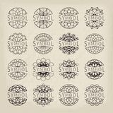 Vector geometric symbols Royalty Free Stock Image