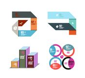 Vector geometric templates Stock Images