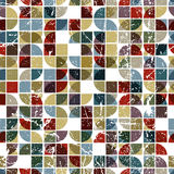 Vector geometric textile abstract seamless pattern, spotted fray. Ed mosaic canvas Royalty Free Stock Photo