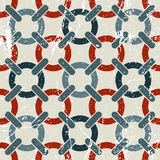 Vector geometric textile abstract seamless pattern, spotted fray. Ed mosaic canvas Stock Photos