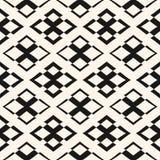 Ornament seamless pattern. Vector geometric texture with rhombus. Vector geometric texture with rhombuses and crosses. Modern ornamental seamless pattern Royalty Free Stock Photos
