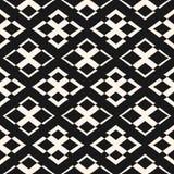 Ornament seamless pattern. Vector geometric texture with rhombus. Vector geometric texture with rhombuses and crosses. Modern ornamental seamless pattern Stock Photography