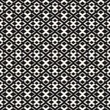 Vector geometric texture with small rhombuses and crosses. Royalty Free Stock Photo