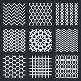 Vector geometric textures Royalty Free Stock Image