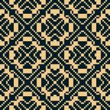 Vector geometric traditional folk ornament. Black and gold seamless pattern. Vector geometric traditional folk ornament. Golden seamless pattern. Ornamental vector illustration