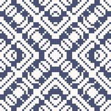 Vector geometric traditional folk ornament. Blue and white seamless pattern. Vector geometric traditional folk ornament. Deep blue and white seamless pattern vector illustration
