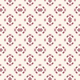 Vector geometric traditional folk ornament. Dark red and white seamless pattern stock illustration