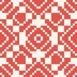 Vector geometric traditional folk ornament. Red and white seamless pattern. Vector geometric traditional folk ornament. Ethnic seamless pattern. Ornamental stock illustration