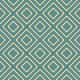 Vector geometric traditional folk ornament. Teal and beige seamless pattern. Vector geometric traditional ethnic ornament. Fair isle seamless pattern. Folk motif vector illustration