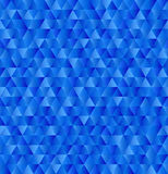 Vector geometric triangle background, seamless pattern in blue colors Royalty Free Stock Image