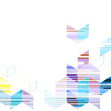 Vector geometric triangle template abstract background. Design stock illustration