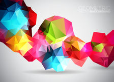 Vector geometric triangles background. Stock Photo