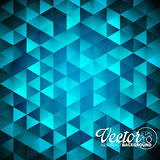 Vector geometric triangles background. Abstract polygonal design. Stock Images