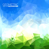 Vector geometric triangles background. Abstract polygonal sky design Stock Images