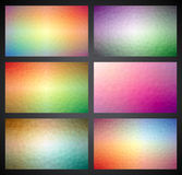 Vector geometric triangles background collection Stock Images