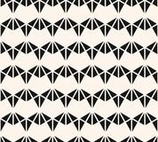 Vector geometric triangles seamless pattern. Black and white abstract ornament vector illustration