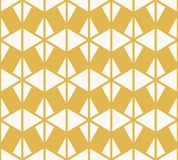 Vector geometric triangles seamless pattern. Yellow and white abstract texture. Vector geometric triangles seamless pattern. Stylish colorful yellow and white royalty free illustration