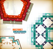 Vector geometric vintage retro pattern background Stock Photo