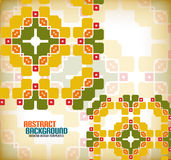 Vector geometric vintage retro pattern background Royalty Free Stock Photos