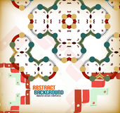 Vector geometric vintage retro pattern background Stock Photography