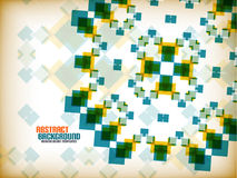 Vector geometric vintage retro pattern background Royalty Free Stock Images