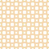 Vector geometric wicker seamless pattern. Abstract white and yellow background stock illustration