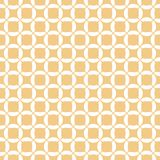 Vector geometric wicker seamless pattern. Simple ornament with grid, mesh, net. Weave, lattice, rounded shapes. Abstract white and yellow background. Natural vector illustration