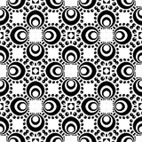 VECTOR GEOMETRICAL BLACK WHITE PATTERN DESIGN. REPEATABLE ABSTRACT Royalty Free Stock Photo