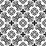VECTOR GEOMETRICAL BLACK AND WHITE PATTERN DESIGN. REPEATABLE ABSTRACT Royalty Free Stock Images