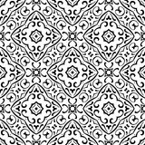 VECTOR GEOMETRICAL BLACK AND WHITE PATTERN DESIGN. REPEATABLE ABSTRACT Stock Photography